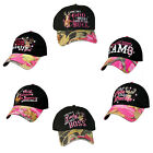 Women's Black Pink Camo Hat Country Muddy Southern Girl Hunt Deer Hunting Hat