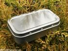 1OZ SILVER TOBACCO STORAGE TINS WITH RUBBER SEAL BUSHCRAFT SURVIVAL CAMPING