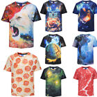 Men's Womens Summer 3D Print T-Shirts Plus size Funny Tee Tops Stylish Casual