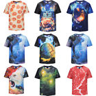 Guy's Girls Funny 3D Print T-Shirts Graphic Hip Hop Party Street Tee Stylish