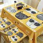 Yellow Cool Cat Linen Desk Cover Cloth Tablecloths Kitchen Coffee Table Covers