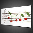 CHERRY STAVES MUSIC NOTES CANVAS PICTURE PRINT WALL ART HOME DECOR FREE DELIVERY