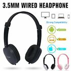 3.5mm Wired Headphone Over-ear Headset with Mic for Smart Phones iPhone 6 7 8