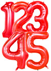 """30"""" 40"""" RED FOIL NUMBER BALLOONS MICKEY MOUSE MINNIE BALLOON birthday party"""