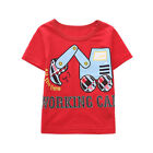 Summer Toddler Baby Kids Boys Girls T Shirts Cartoon Print T Shirts Tops Outfits