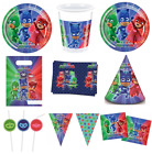 Official PJ Masks Birthday Party Tableware Supplies Loot Bags Banners Plates