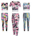 Children's Girls Adios Leggings Top Two-Piece Set Tracksuit Loungewear Ages 7-13