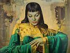 Vladimir Tretchikoff 'Lady from Orient' Satin Finish Cotton Art Canvas 370gsm