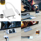 1080P Lightning to Digital AV Adapter HDMI Cable For Apple iPhone 8 X 7 6S iPad