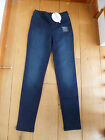 MARKS AND SPENCER WASHED INDIGO STRETCH JEGGINGS UK 6 XXS MEDIUM BELOW WAIST NEW