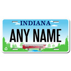 Personalized Indiana License Plate for Bicycles, Kid's Bikes & Cars Version 3