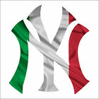 NY Yankees ITALIAN Flag Car Window Wall Decal Sticker *MANY SIZES TO CHOOSE FROM