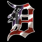 "6"" 10"" 12"" 18"" 24"" Detroit Tigers D American Flag Car Window Wall Decal Sticker"