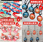 Roblox Birthday Balloons Party Banner Backdrop Supplies Decoration Bracelet Toy