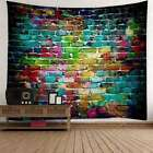 Colorful Brick Tapestry Pattern Print Tapestry Wall Hanging Room Home Decoration
