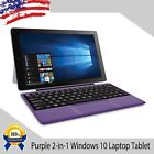 1280x800 HD 2-in-1 TouchScreen Laptop Tablet PC Windows 10 Dual Webcam WiFi HDMI