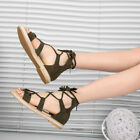 Womens Tassel Roma Lace-Up Sandals Ladies Flip Flops Open Toe Flat Shoes GIFT