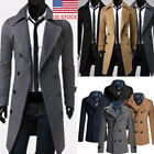 Warm Winter Mens Business Trench Coat Peacoat Overcoat Long Jacket Outwear GIFT