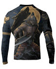 Raven Fightwear Men's Ulfhedinn MMA BJJ Rash Guard Black