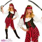 New High Seas Pirate Ladies Adult Costume Buccaneer Hen Shipmate Sizes UK 6-28