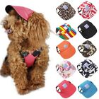 Pet Summer Canvas Cap Dog Baseball Visor Hat Puppy Outdoor Sunbonnet Cap US