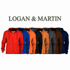 Logan  Martin Mens Fleece Lined Zip Up Hoodies in 8 Colors and Sizes Med XXL
