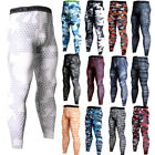Men's Compression Tights Long Athletic Base Layers Moisture Wicking Bottoms Camo