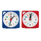 Mini Table Alarm Clock Quartz LED Light with Snooze Function Battery Operated SG