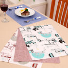 Double-sided Patchwork Fabric Placemat Table Napkin Table Mat Dining Table Use