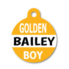 GOLDEN BOY CUTE NAME FRONT Pet ID Tag for Dog & Cat Collars & Harnesses.