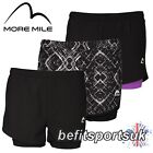 MORE MILE WOMENS LADIES 2 IN 1 BLACK INNER TIGHT RUNNING GYM FITNESS SHORTS