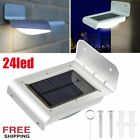 1-20X 24LED Solar Power PIR Motion Sensor Wall Light Outdoor Garden Shed Lamp BP