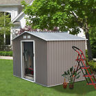 small garden shed - Steel Outdoor Garden Storage Shed All Weather Tool Utility Backyard Lawn NEW BP