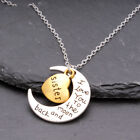 I Love You To The Moon & Back Family Heart Silver Necklace Pendant For Women Men <br/> Buy 2 Get 2 Free-add any 4 to basket to qualify.