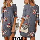 UK Womens Floral Long Tops Blouse Ladies Summer Beach Tunic Dress Plus Size 6-22 <br/> =UK Same Day Delivery= UK Next Day Delivery Available=
