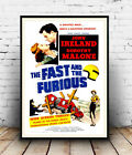 Fast & Furious : Vintage advertising , poster, Wall art, poster, reproduction.