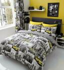 NEW YORK BEDDING SET Patchi Duvet Cover Pillow Case Famous City Reversible Quilt