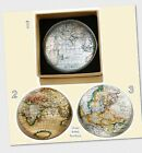 Perfect Gift for Dad Or Grandad! - Retro Atlas Style Glass Paperweight 3 Styles