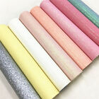 Crafts - Pastel Fine Glitter Vinyl Fabric Sparkle Leather Material Crafts Bow Decor Plain