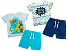New Dinosaur Print T Shirt & Shorts Set Boys Summer Holiday Outfit Birthday Gift