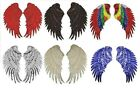 """Внешний вид - Pair of Sequin ANGEL WING iron on appliques 14-3/4"""" x 6-3/8"""" ea Red Silver Gold"""