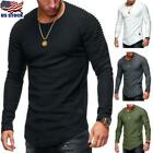 Thermal Men Slim Fit O Neck Long Sleeve Muscle Tee T-shirt Casual Tops Blouse US image