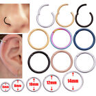 Septum Clicker Nose Ear Ring Captive Hinged Segment Piercing Helix Tragus Opal