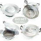 "12"" BBQ GRILL SET Steak Meat Beef Pan Table Top Stove Charcoal Aluminum Thai"