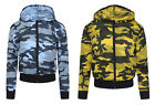 Kids Lightweight Summer Casual Camouflage Army Print Zipper Jacket Ages 7-13