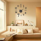 Modern DIY Large Number Wall Clock 3D Mirror Surface Sticker Home Decor TXZVE4