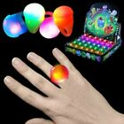 LED Light Up Flashing Blank Solid Color Soft Ball Rings Part