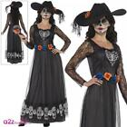 Ladies Day Of The Dead Skeleton Bride Costume Halloween Adult Fancy Dress Outfit