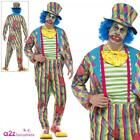 Adult Deluxe Creepy Patchwork Clown Costume IT Mens Halloween Fancy Dress Outfit