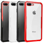 Ultra Thin TPU Bumper Clear Tempered Glass Back Case Cover For iPhone 6 6s Plus
